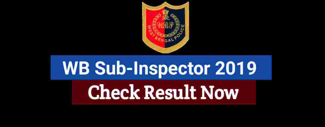 West Bengal sub Inspector result